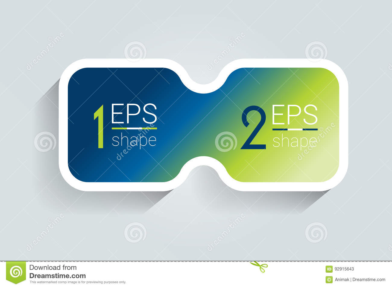 Two business elements banner, template. 2 steps design, chart, infographic, step by step number option, layout.