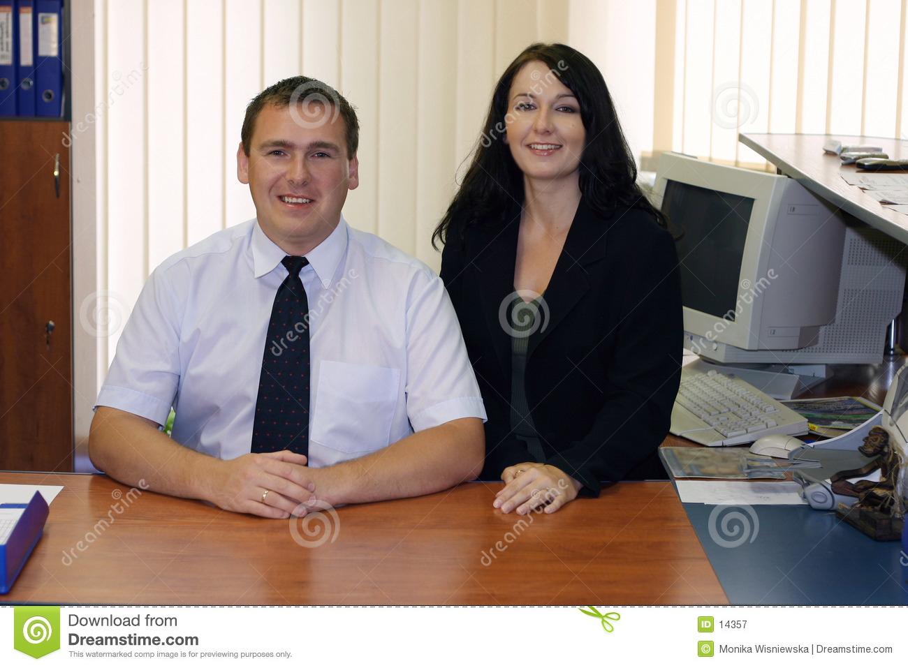 Two business executives