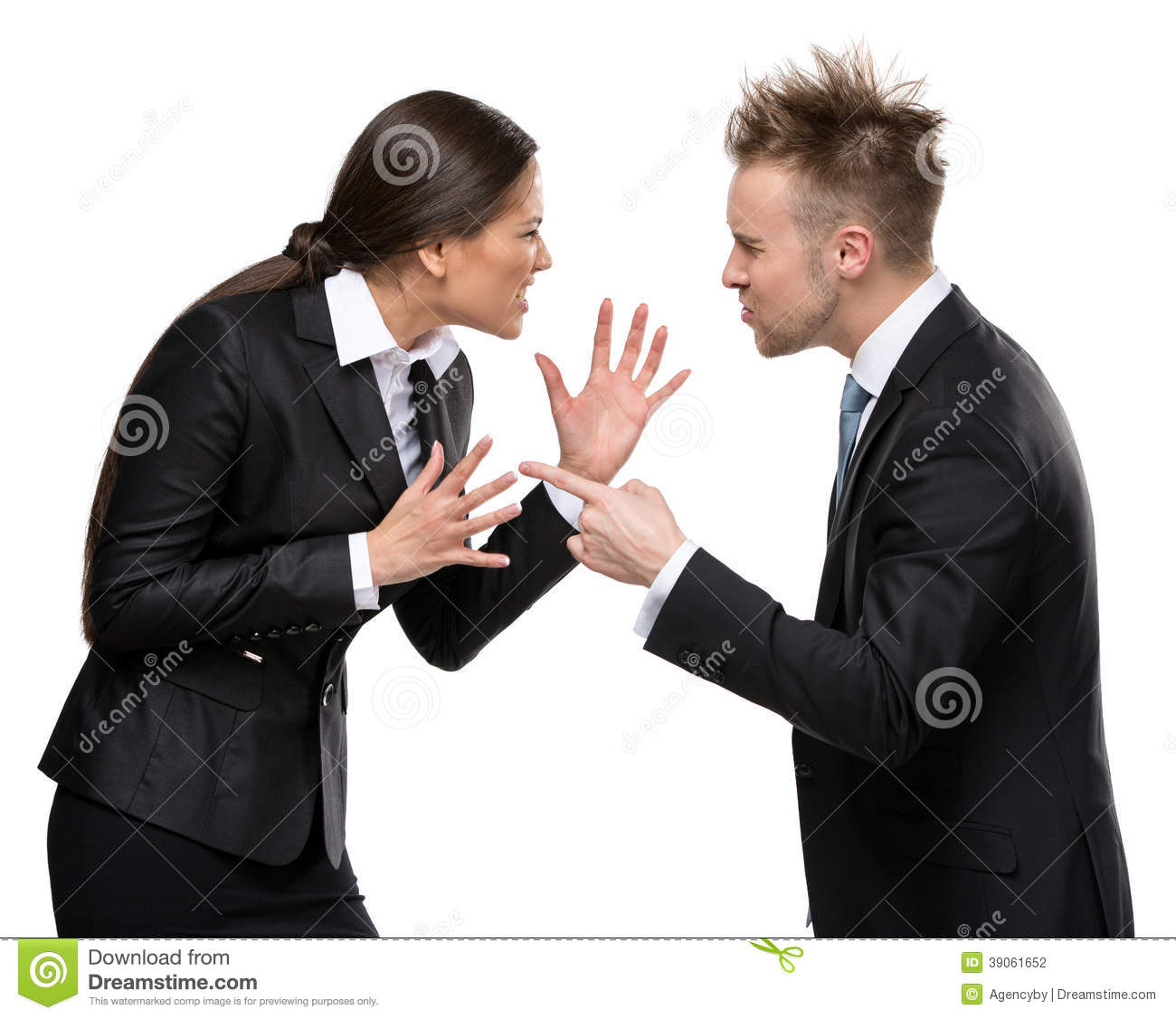 two business people debate stock photo image 39061652