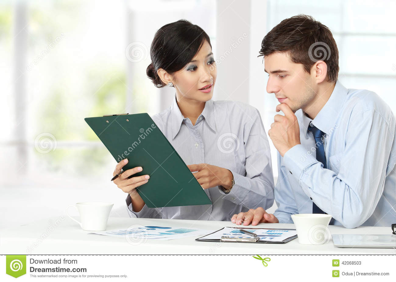 Two Business People At The Meeting Stock Photo - Image ...