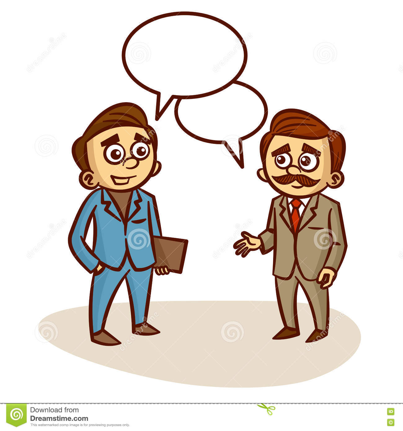 two businessmen talking about business stock vector illustration rh dreamstime com clipart taking medicine clip art walking stick