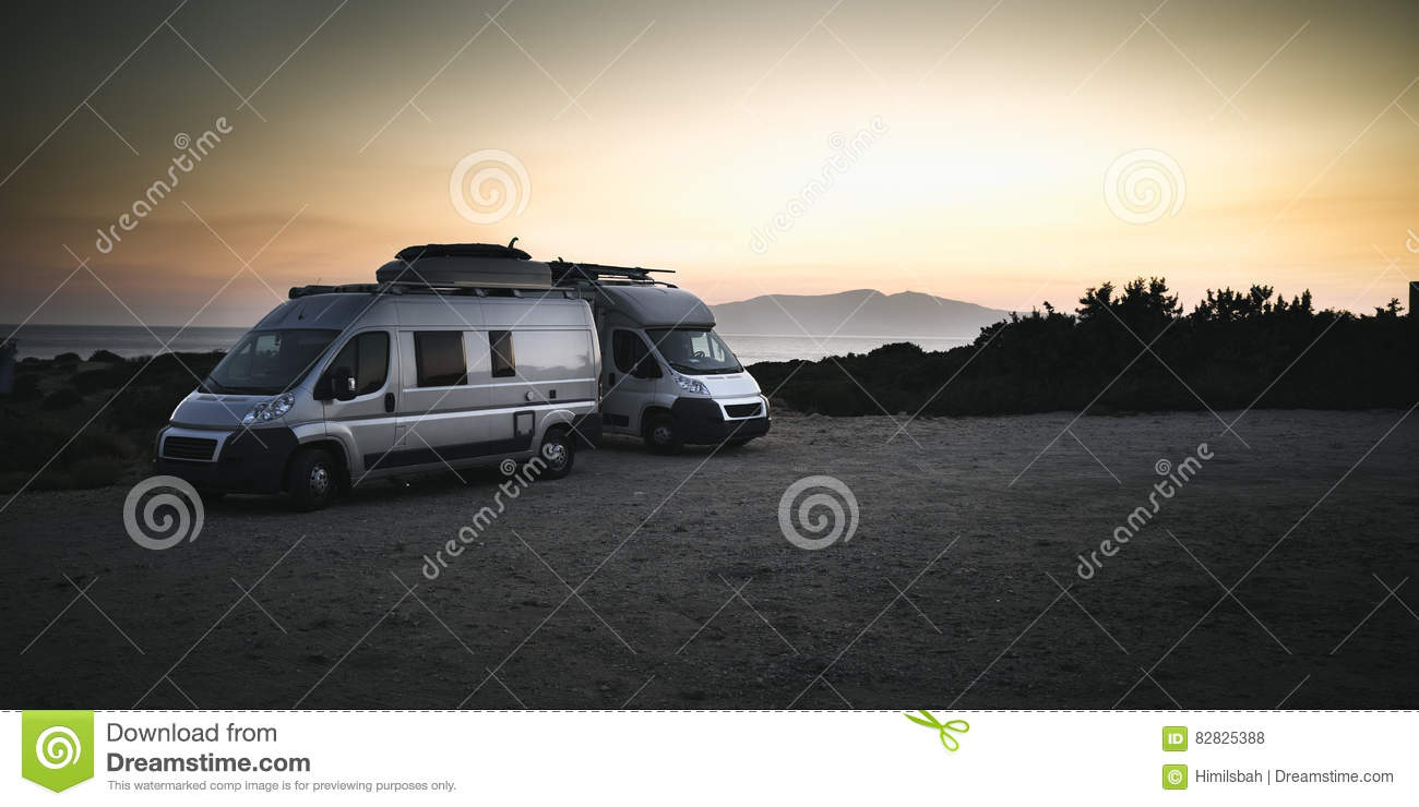 Camper Cars Two Camper Cars Stock Photo Image 82825388
