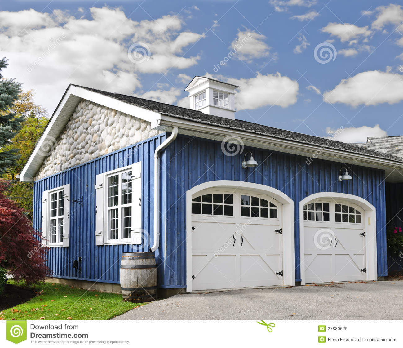 Two car garage stock image image of house garages clean for Two car garage doors