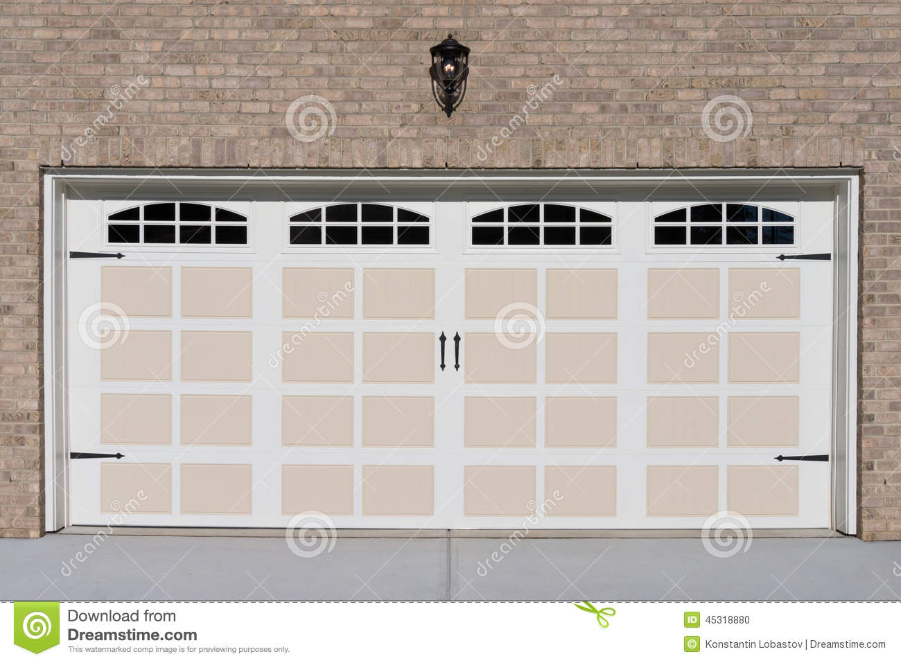 Two car garage door stock photo image of construction for Two car garage doors