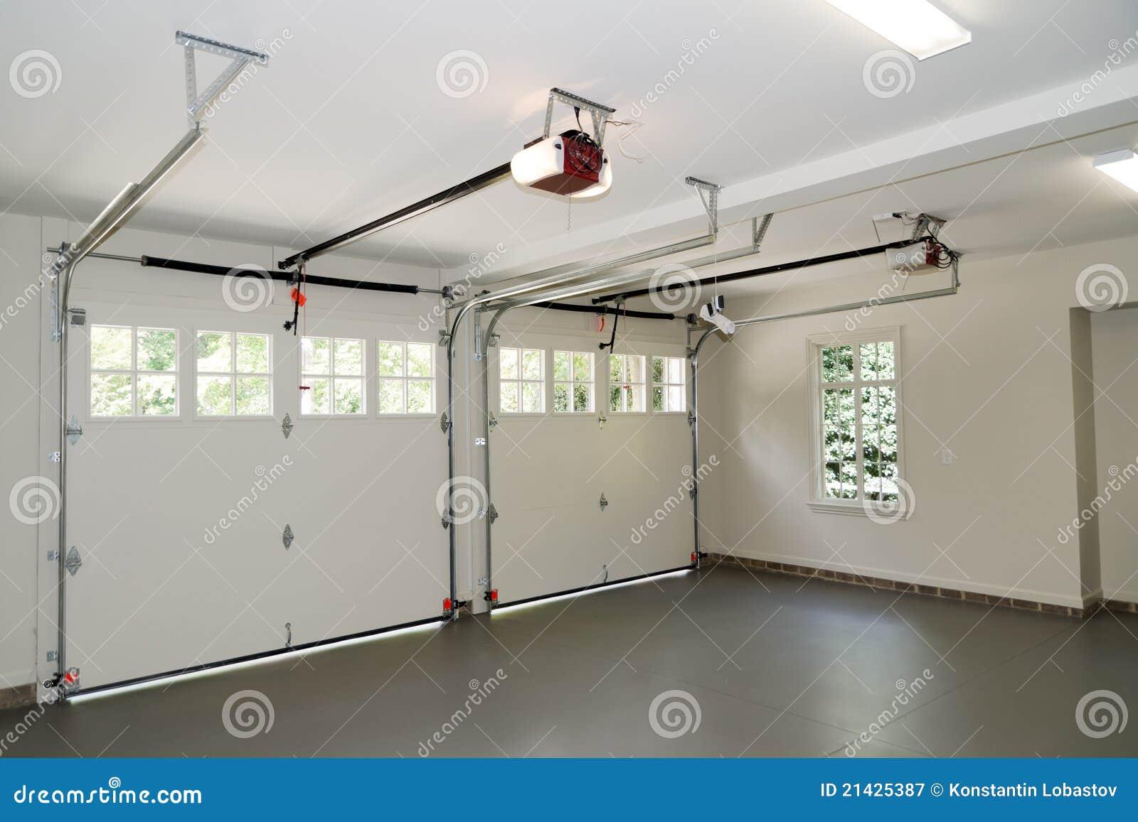 Two car garage interior royalty free stock photography - Double garage interior design ...