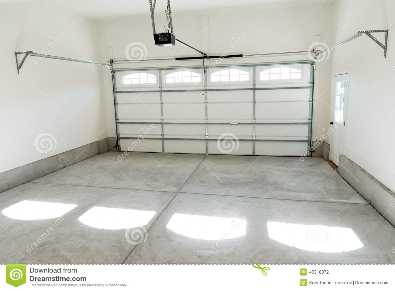 Program Car Garage Door Opener >> Two Car Garage Interior Stock Photo - Image: 45318872