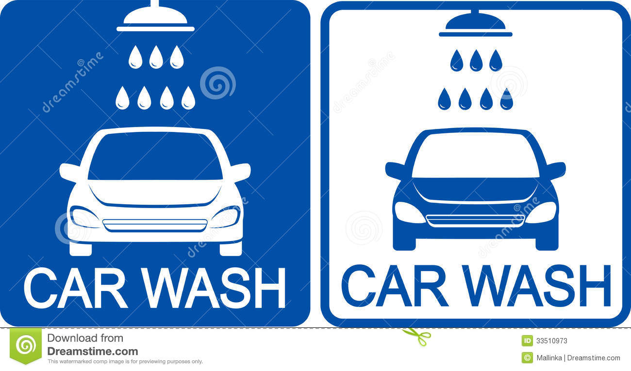 Two Car Wash Icons Stock Vector Illustration Of Logo