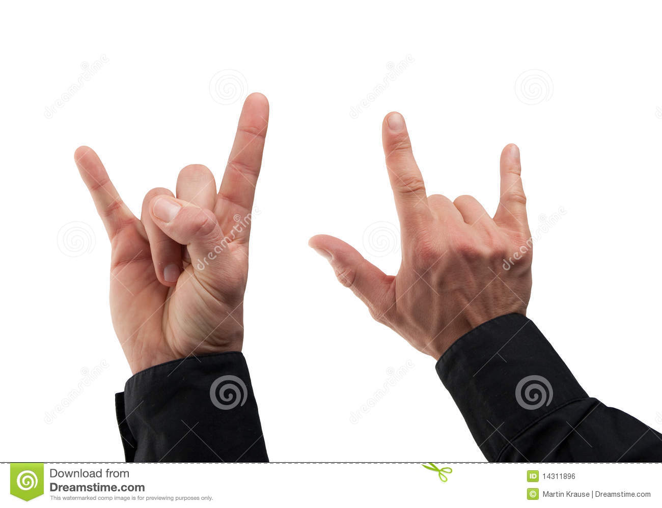 More similar stock images of ` Two caucasian male hand making a punk ...