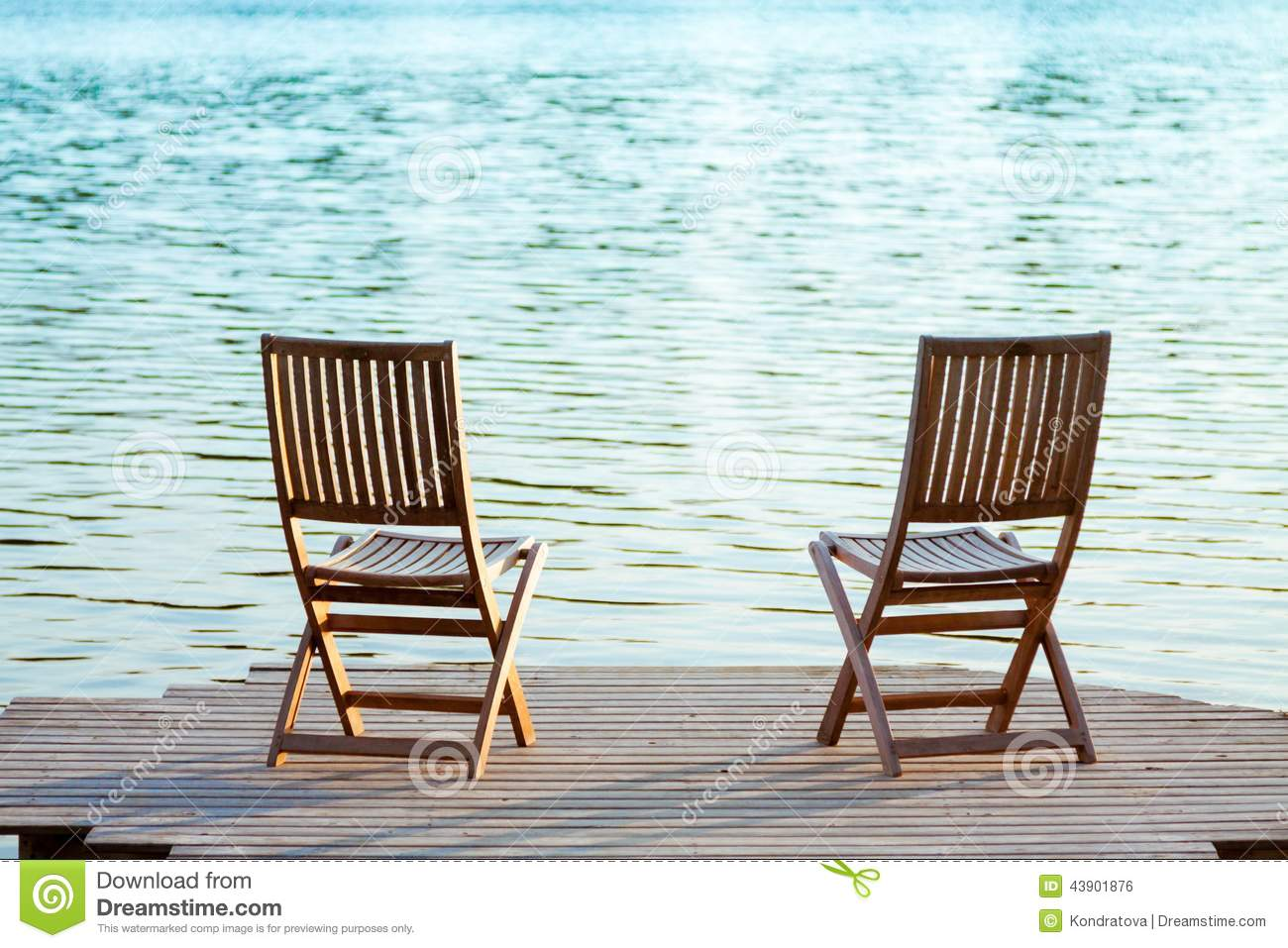 Two Chairs On Dock Stock Photo Image Of Muskoka Resting