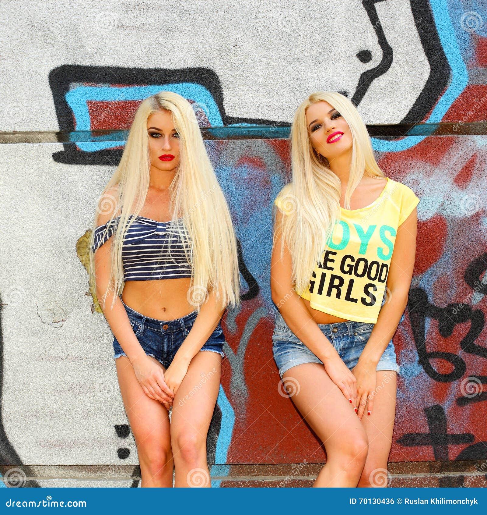 Blondes having fun