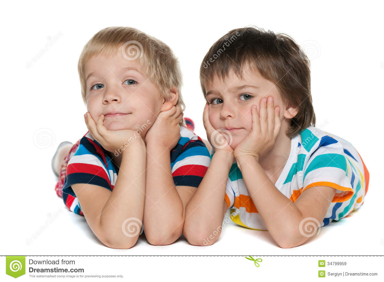 Two Cute Happy Kids With Dog Stock Photo - Image of jack