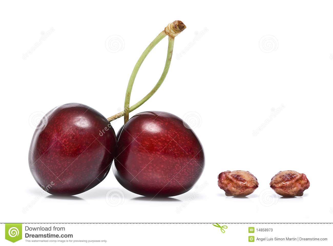 Two cherries and two bones.