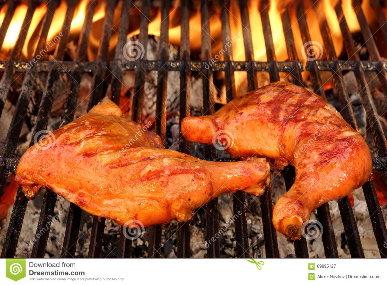 Grilling Chicken Leg Quarters Stock Images - Image: 2650914
