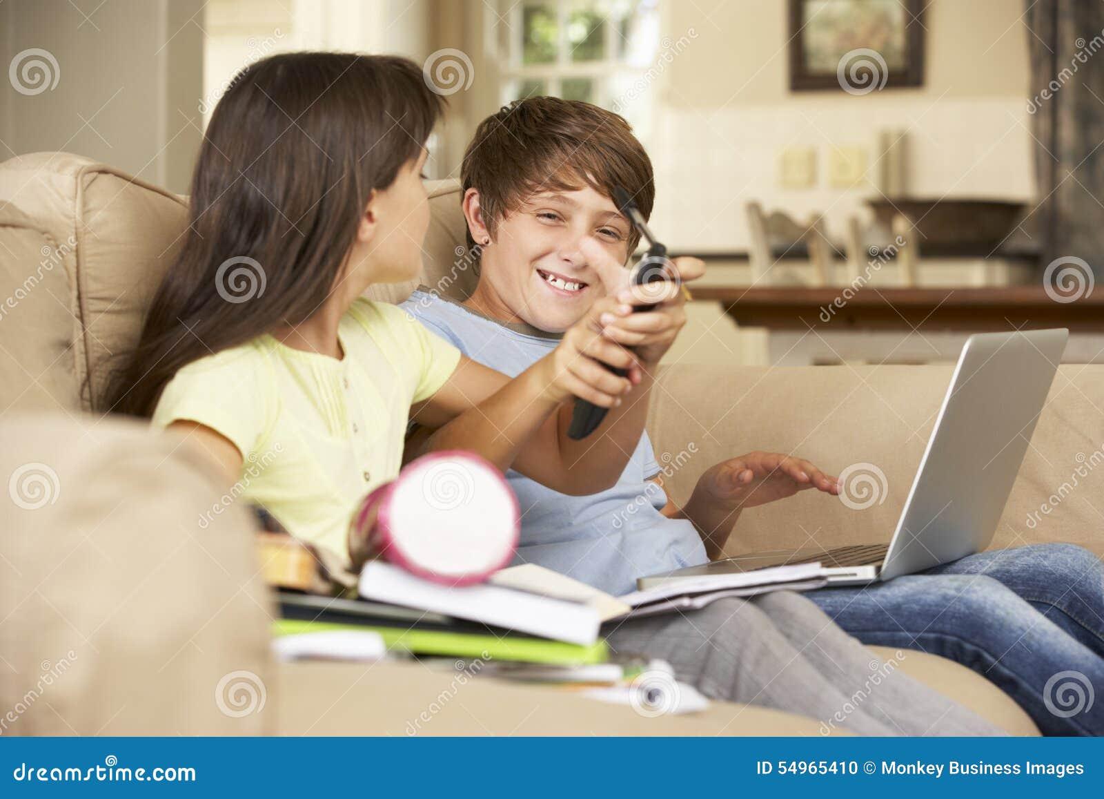 Distracted child homework