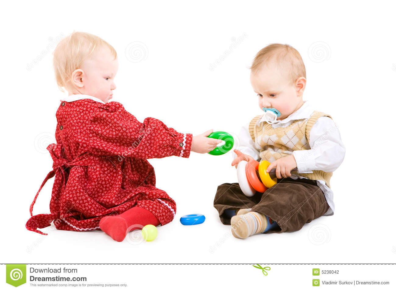 Two Children Play Together Stock Photography Image 5238042