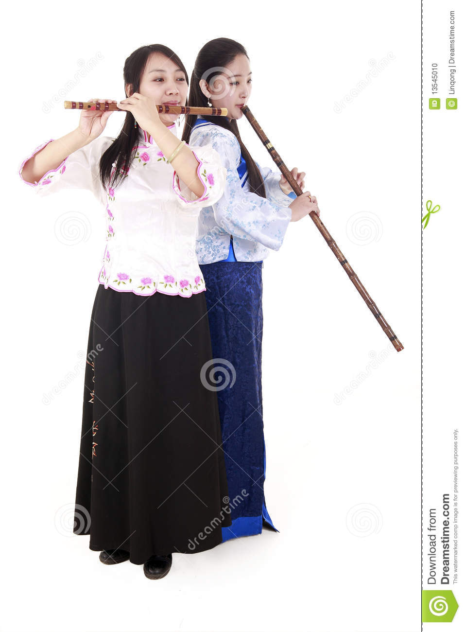 Two Chinese musicians