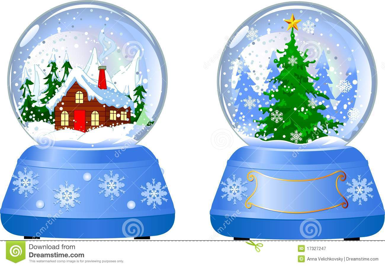 Two Christmas Snow Globes Royalty Free Stock Photography - Image ...