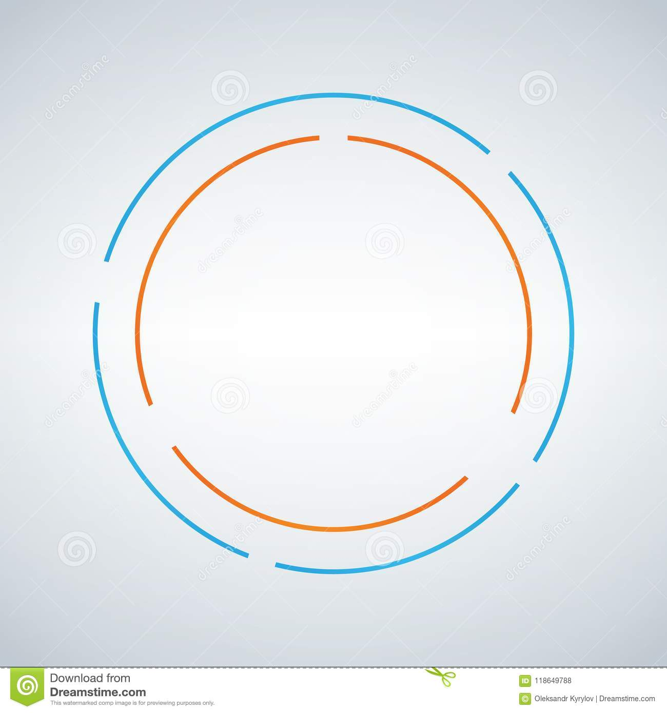 Download Two Circe Abstract Vector Design Double Circle Shape Emblem Identity Icon Blue And