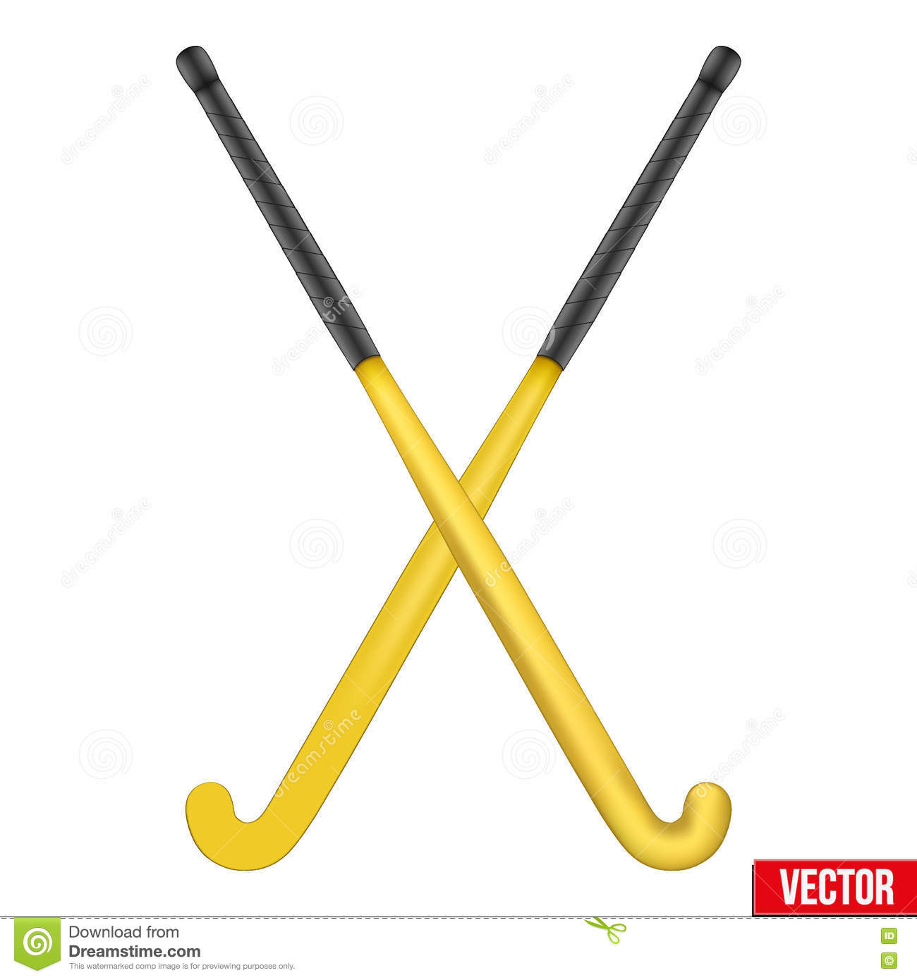 Two classic sticks for field hockey stock vector illustration of two classic sticks for field hockey biocorpaavc Image collections
