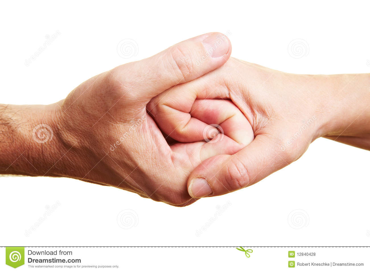 Two Clinging Hands Royalty Free Stock Photos - Image: 12840428