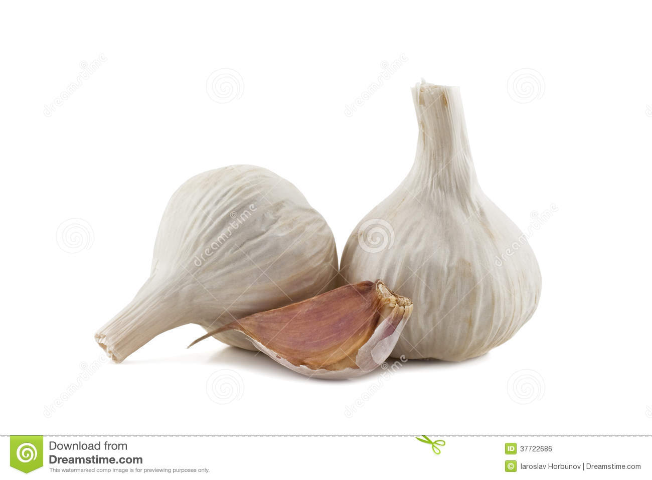 Two Cloves Of Garlic And Garlic Clove Royalty Free Stock ...