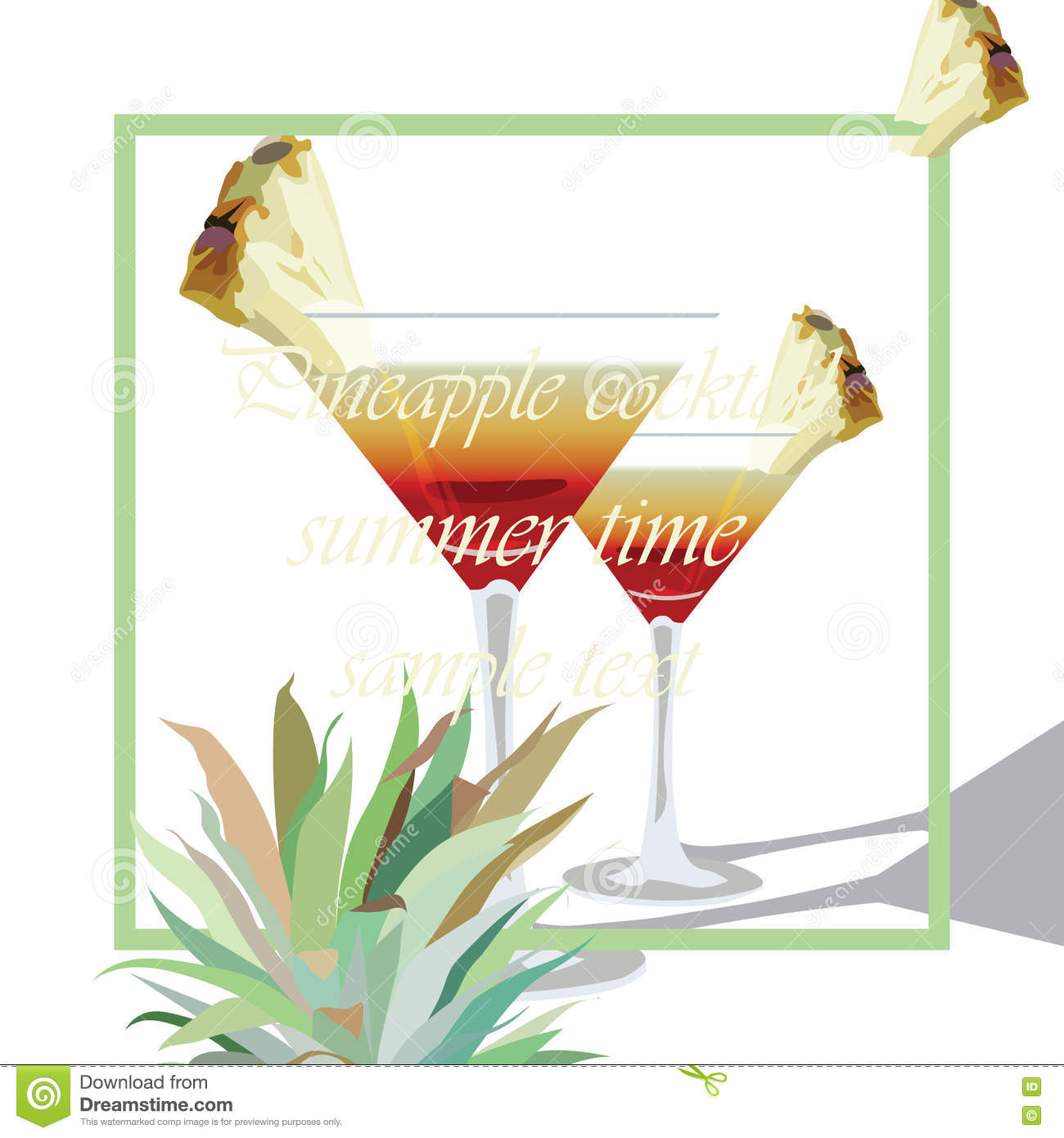 Mocktail cartoons illustrations vector stock images for Cocktail 51