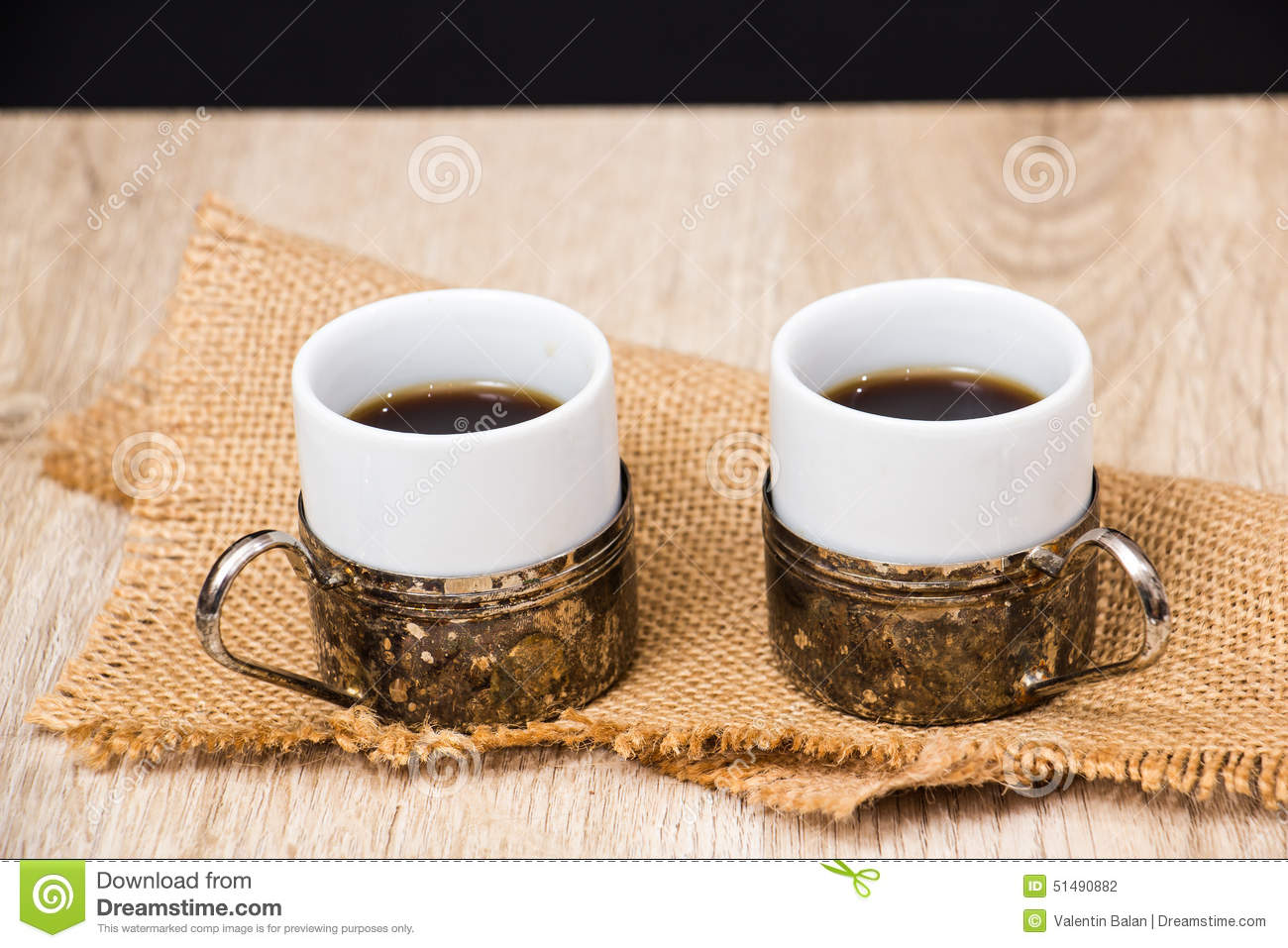 Two Coffee Cups With Coffee Beans Stock Photo - Image of ...