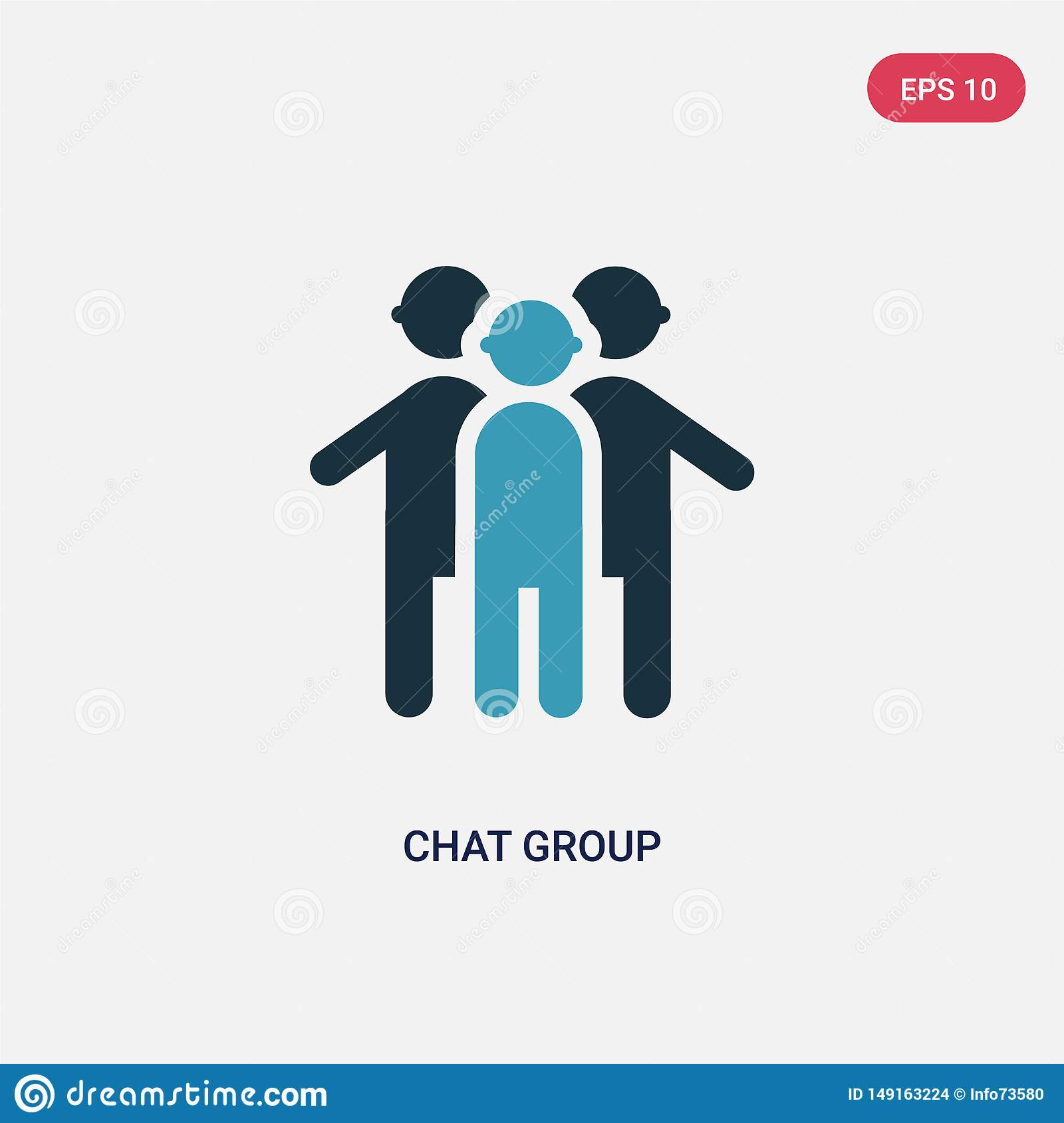Two color chat group vector icon from people concept. isolated blue chat group vector sign symbol can be use for web, mobile and