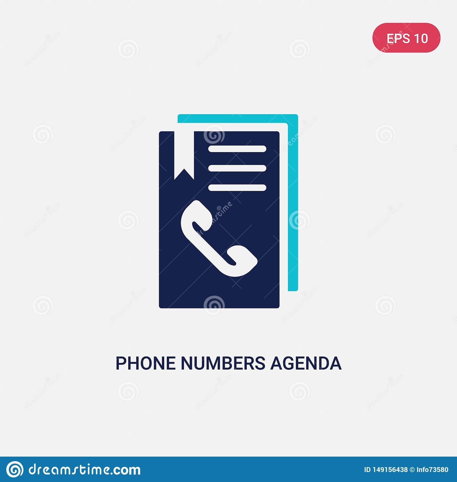 Phone Numbers Illustrations Vectors