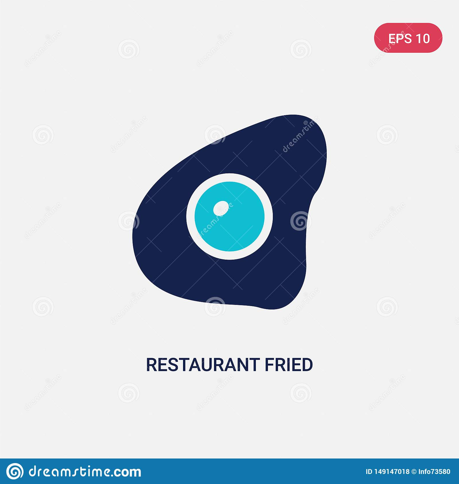 Two Color Restaurant Fried Egg Vector Icon From Bistro And Restaurant Concept Isolated Blue Restaurant Fried Egg Vector Sign Stock Vector Illustration Of Eggs Cuisine 149147018