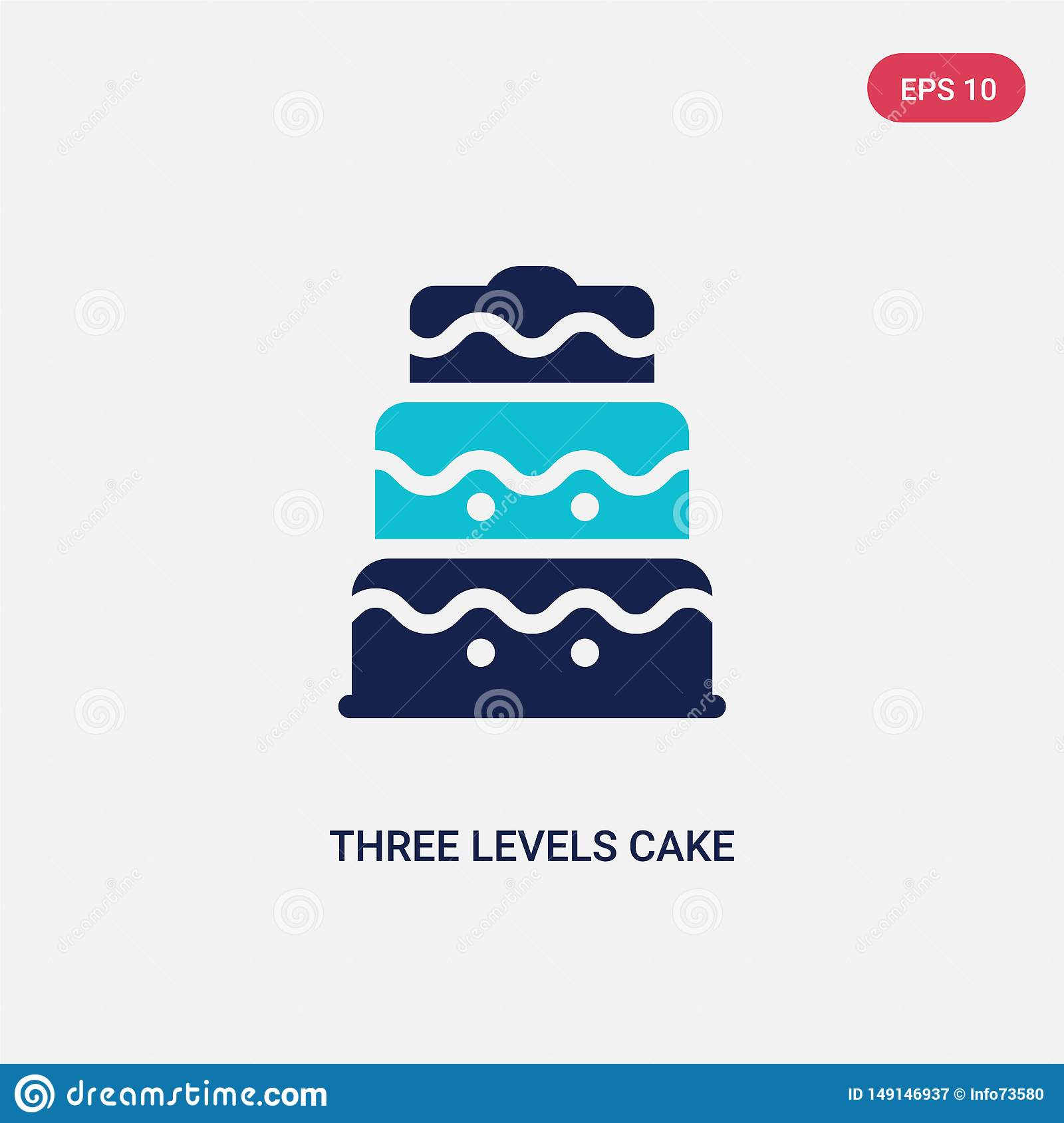 Two Color Three Levels Cake Vector Icon From Bistro And Restaurant Concept Isolated Blue Three Levels Cake Vector Sign Symbol Can Stock Vector Illustration Of Infographics Cream 149146937