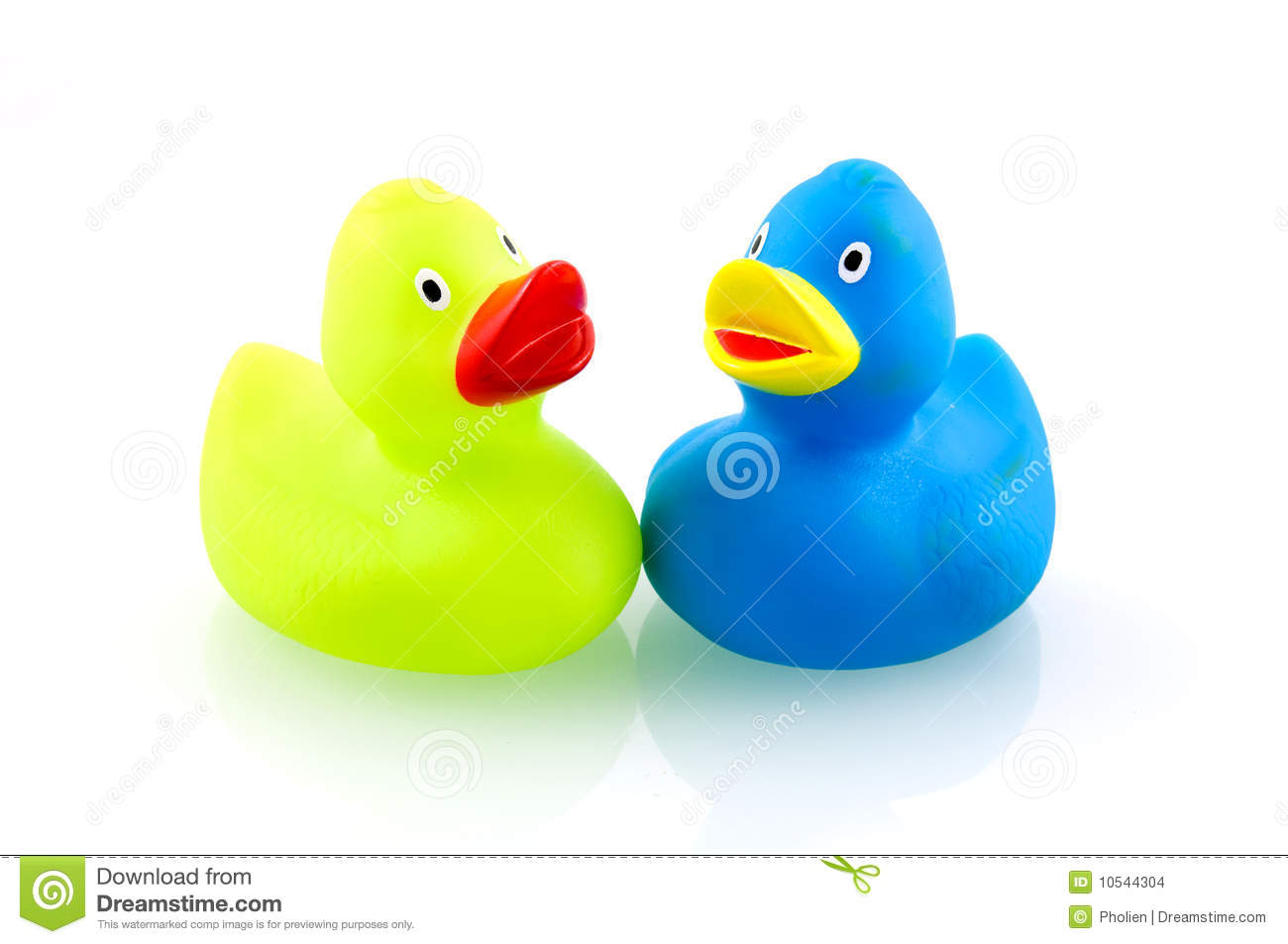 Two Colorful Rubber Du...