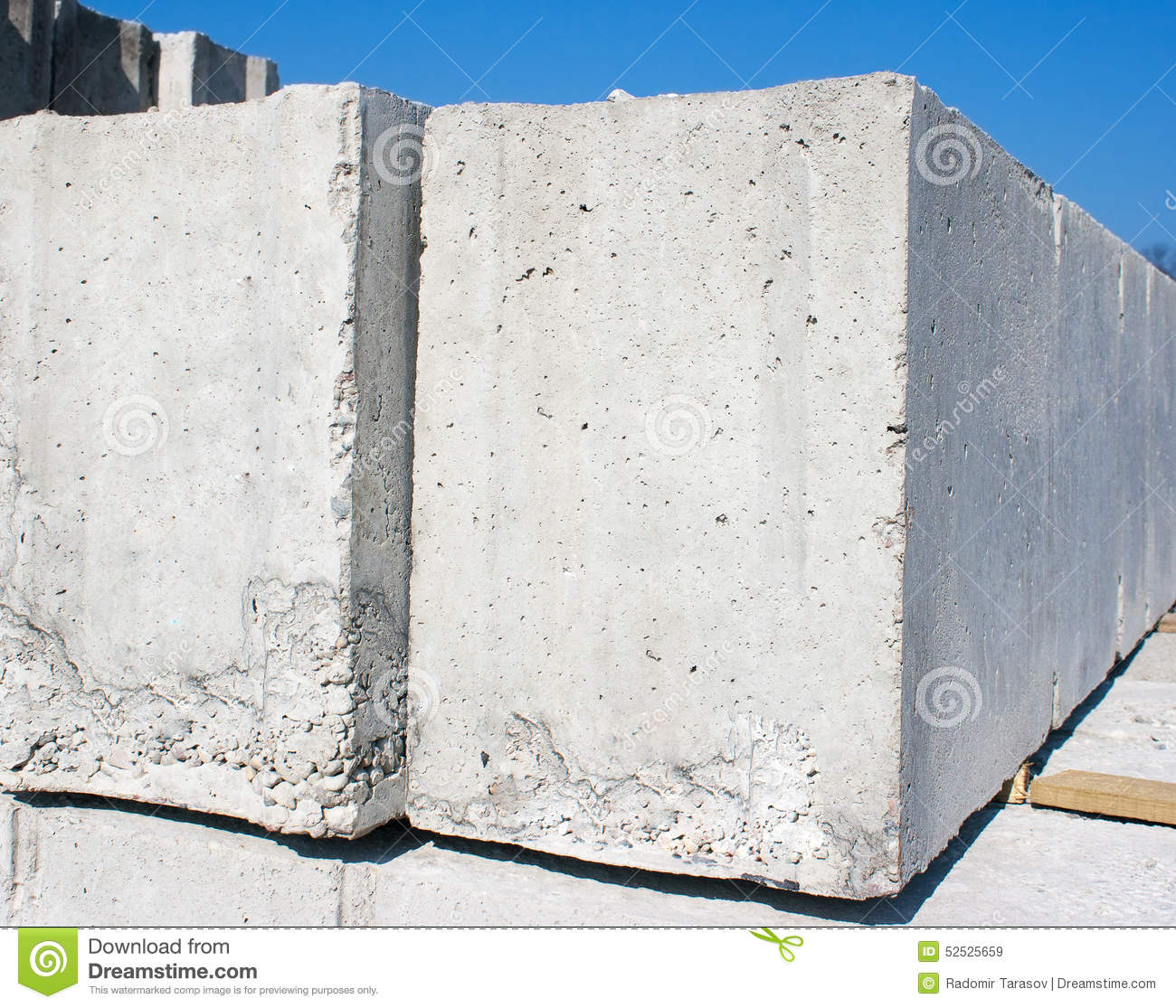 Two concrete slabs to build a house stock photo image for Building a house on a slab