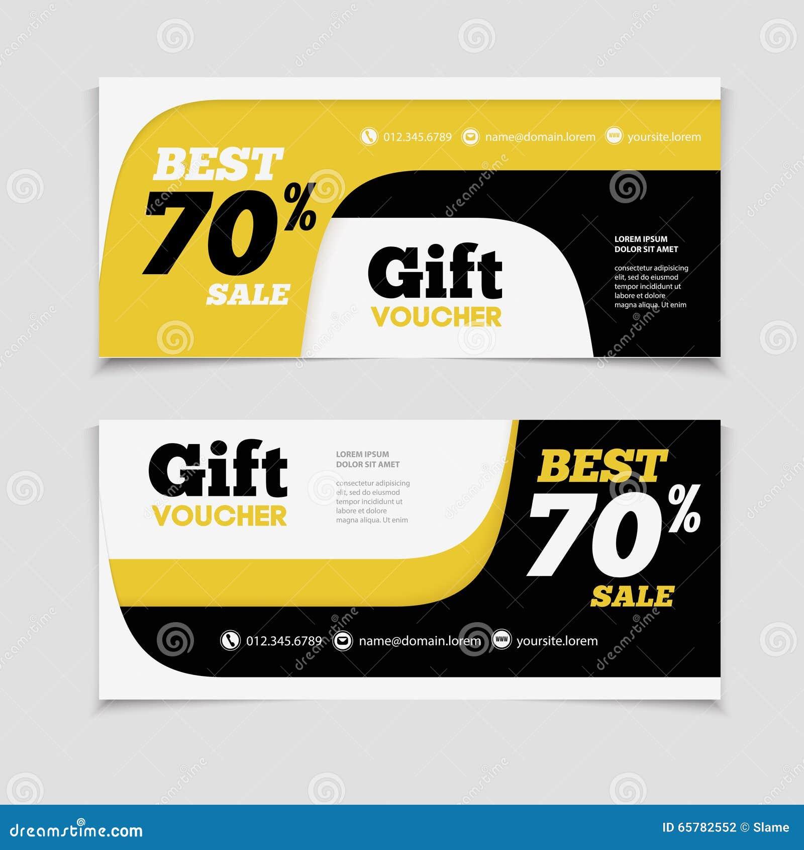 Shop discount vouchers business invitation template for Hotel voucher design