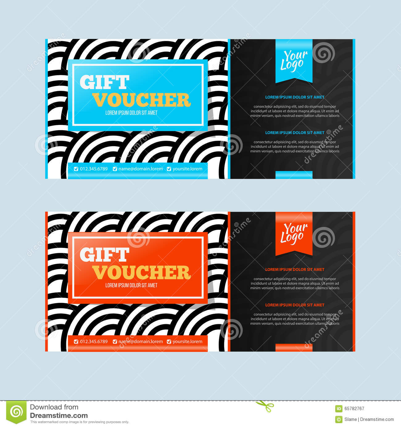 Two coupon voucher design gift voucher template with amount of royalty free vector download two coupon voucher xflitez Image collections