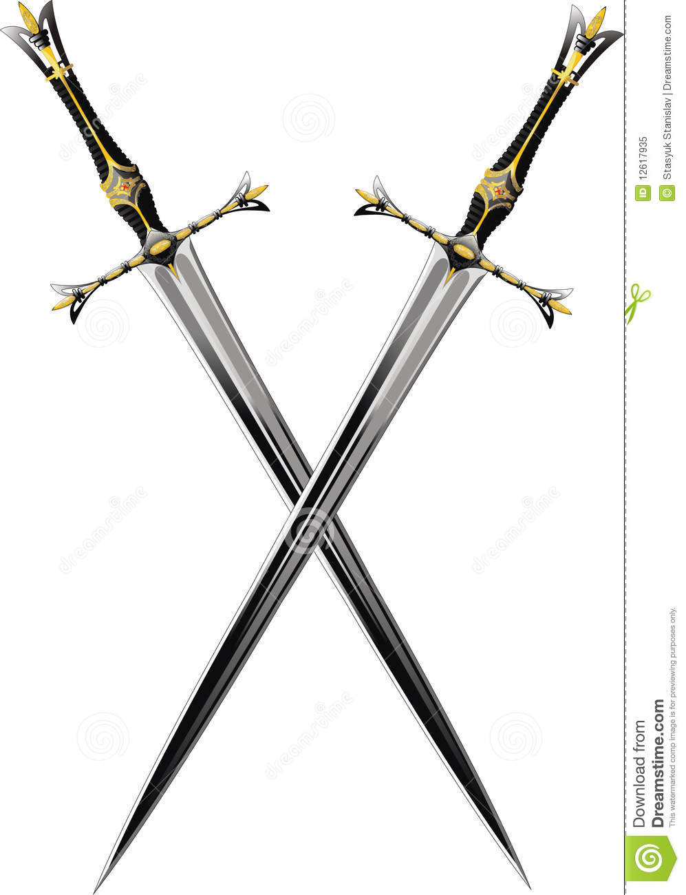 Two crossed swords stock vector. Illustration of object ...