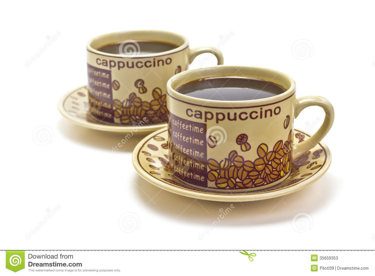 Two Cups Of Coffee Stock Photos Image 35659353