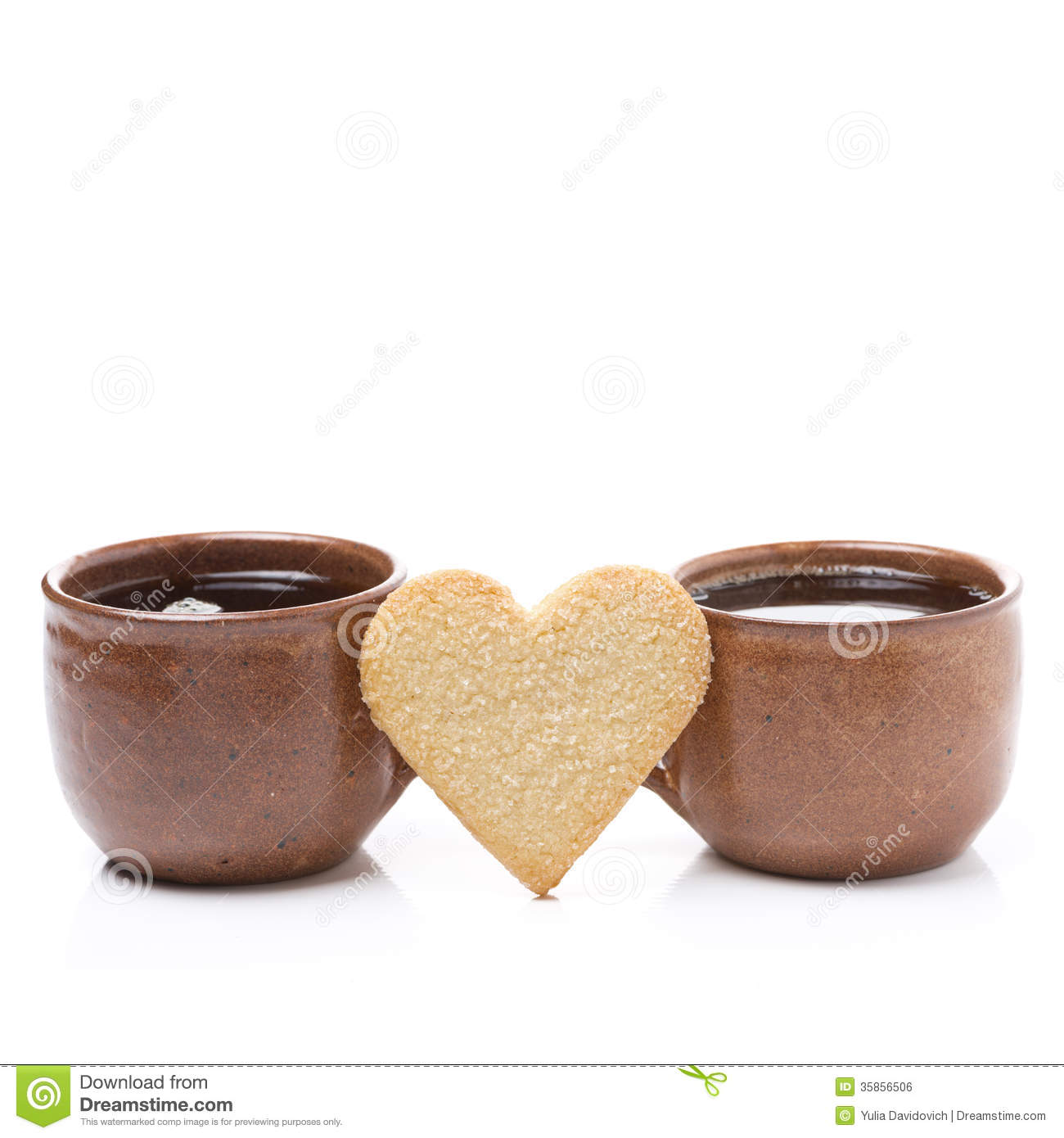 Two Coffee Cups With Coffee