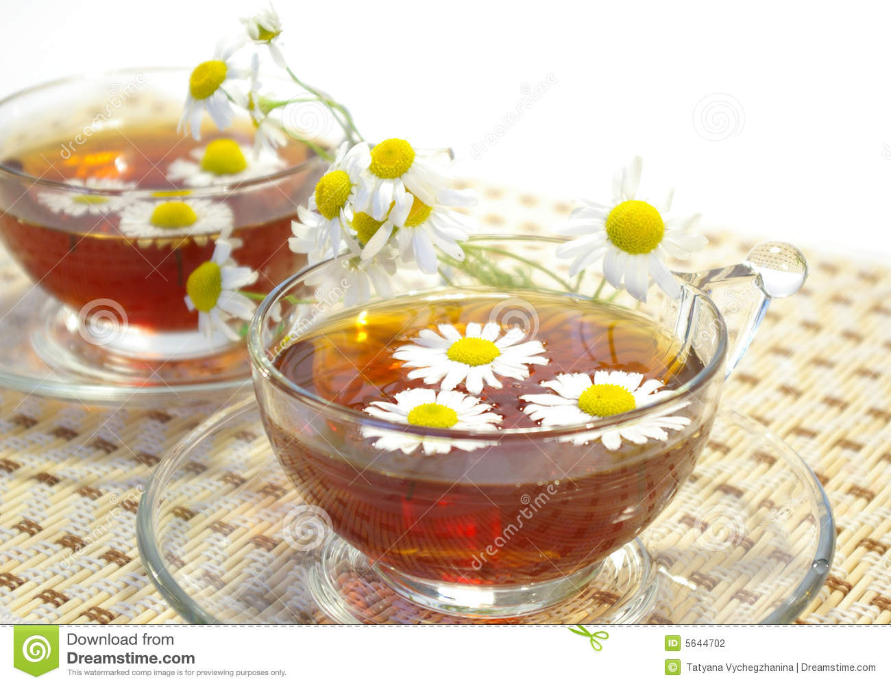 Two cups of herbal tea