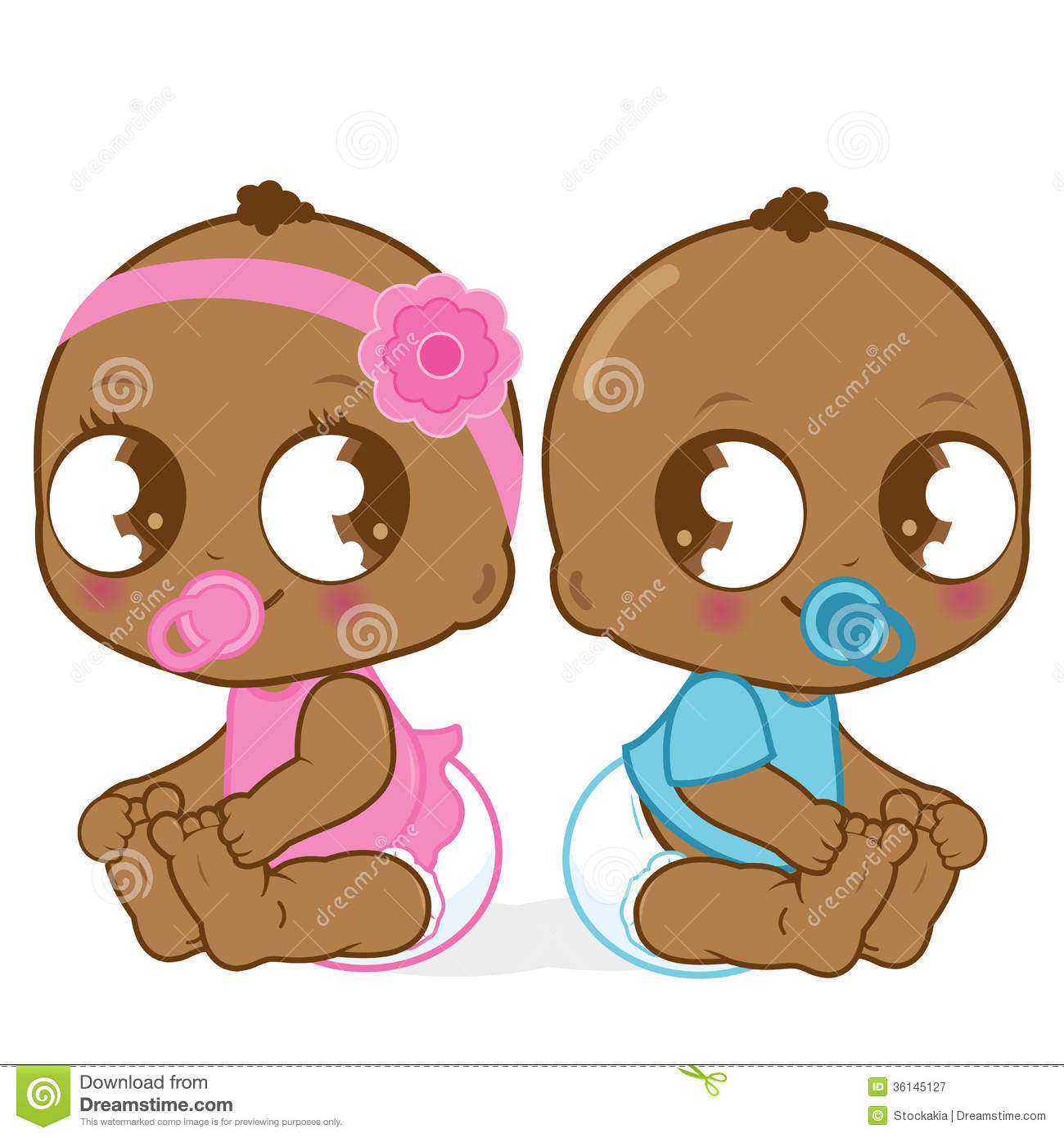 African American Babies Stock Vector Image Of Baby Happy