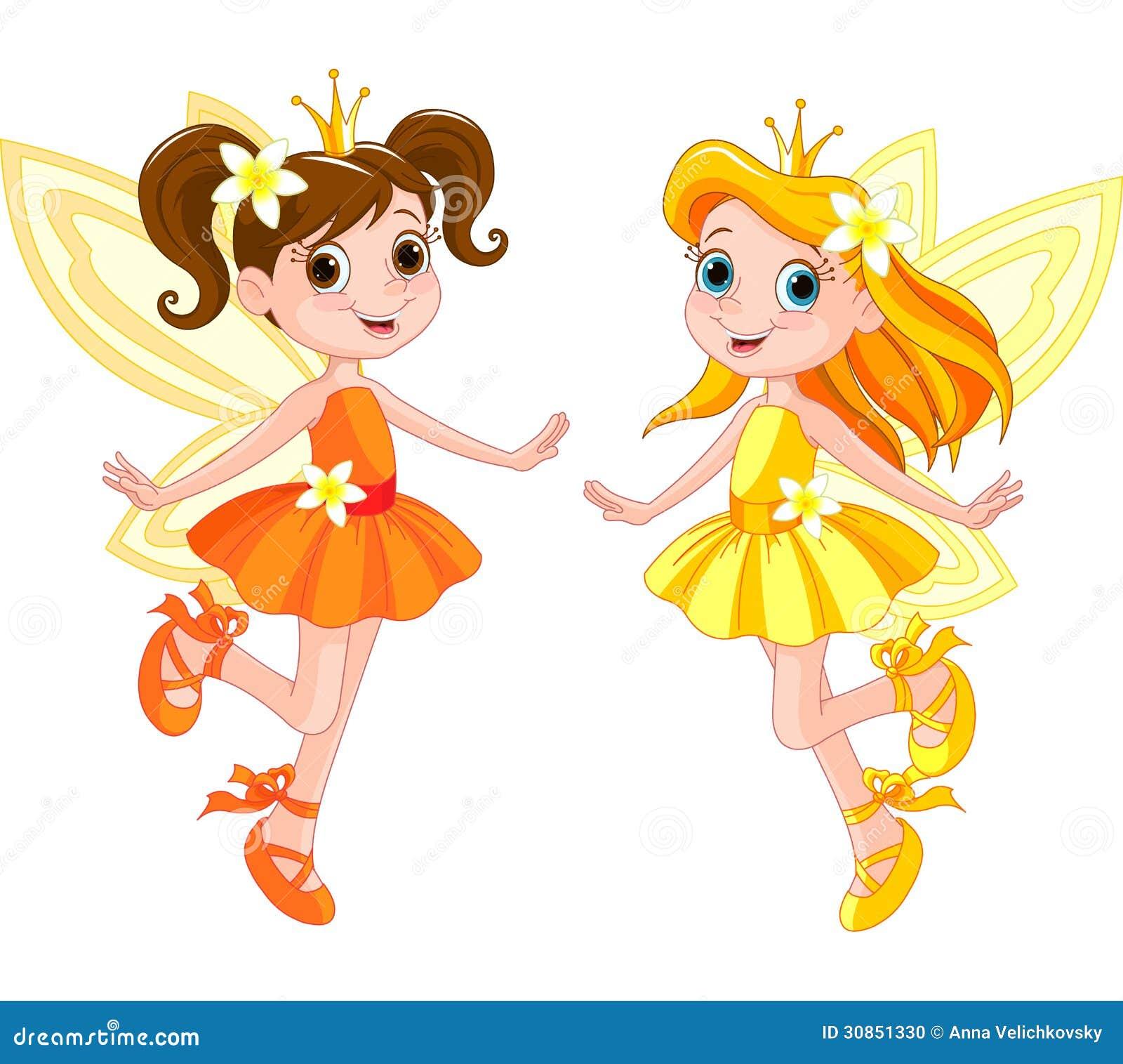 two cute fairies stock photo image 30851330