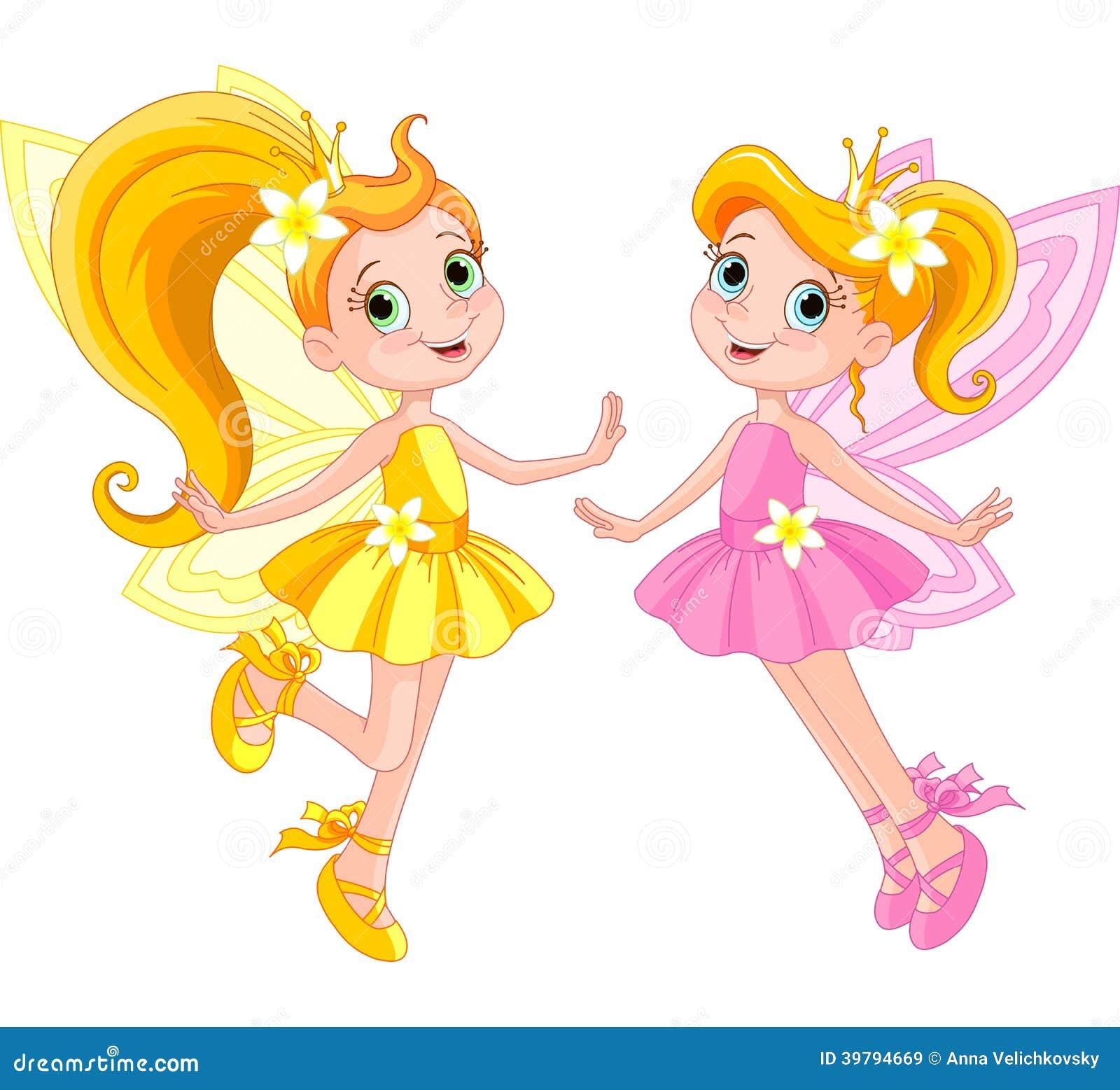 Flower coloring pages flower coloring pages 2 flower coloring pages 3 - Two Cute Fairies Stock Vector Image 39794669