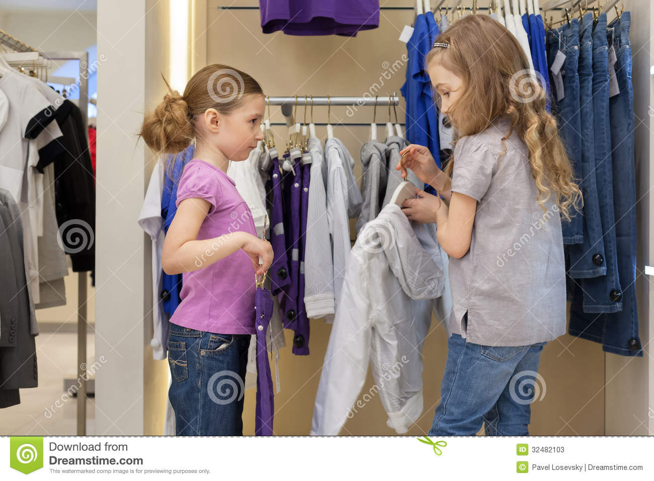 Two Cute Clothing Store Two Cute Girls Try On Clothes
