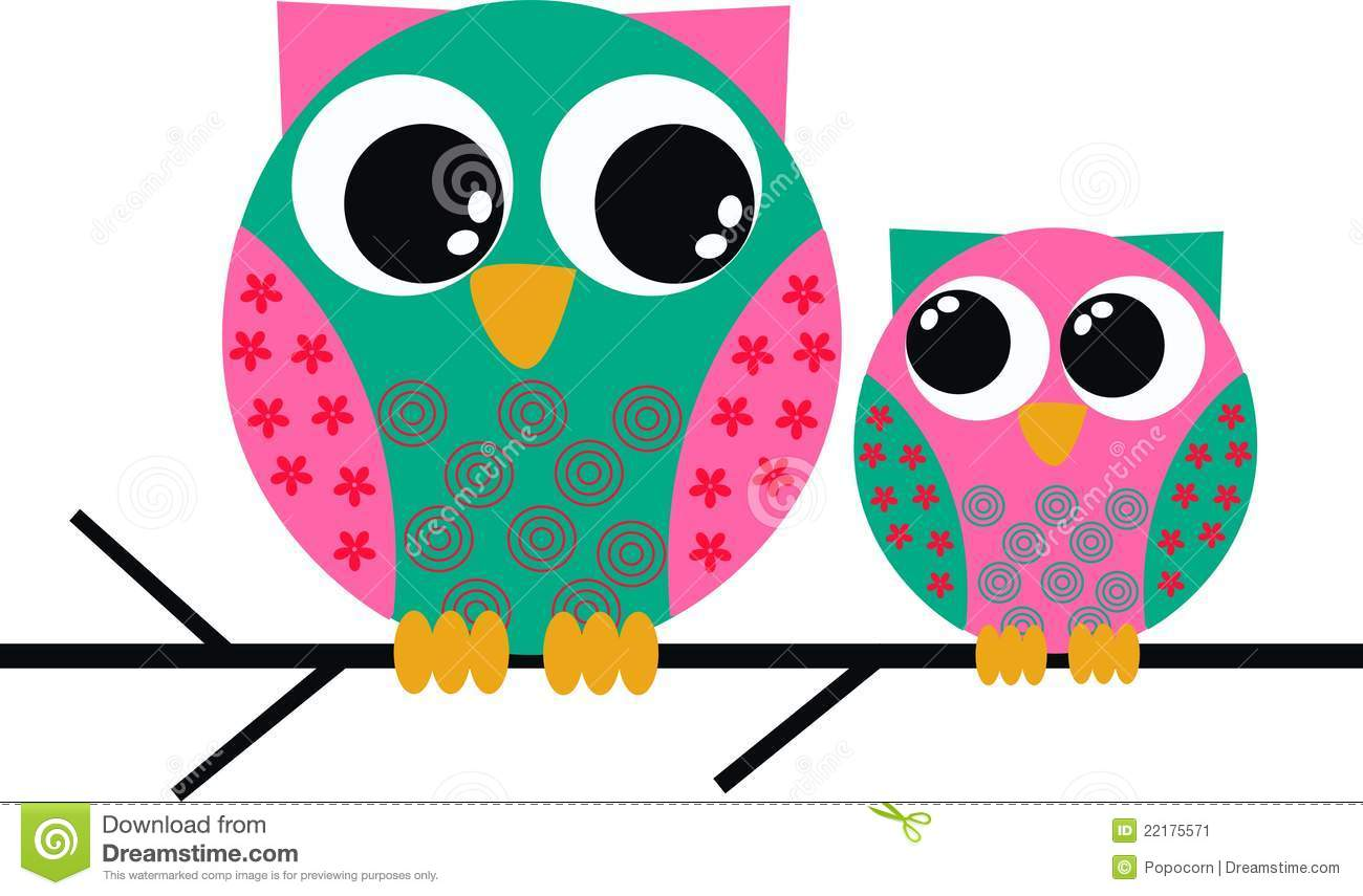 Two Cute Owls Stock Vector Illustration Of Cover