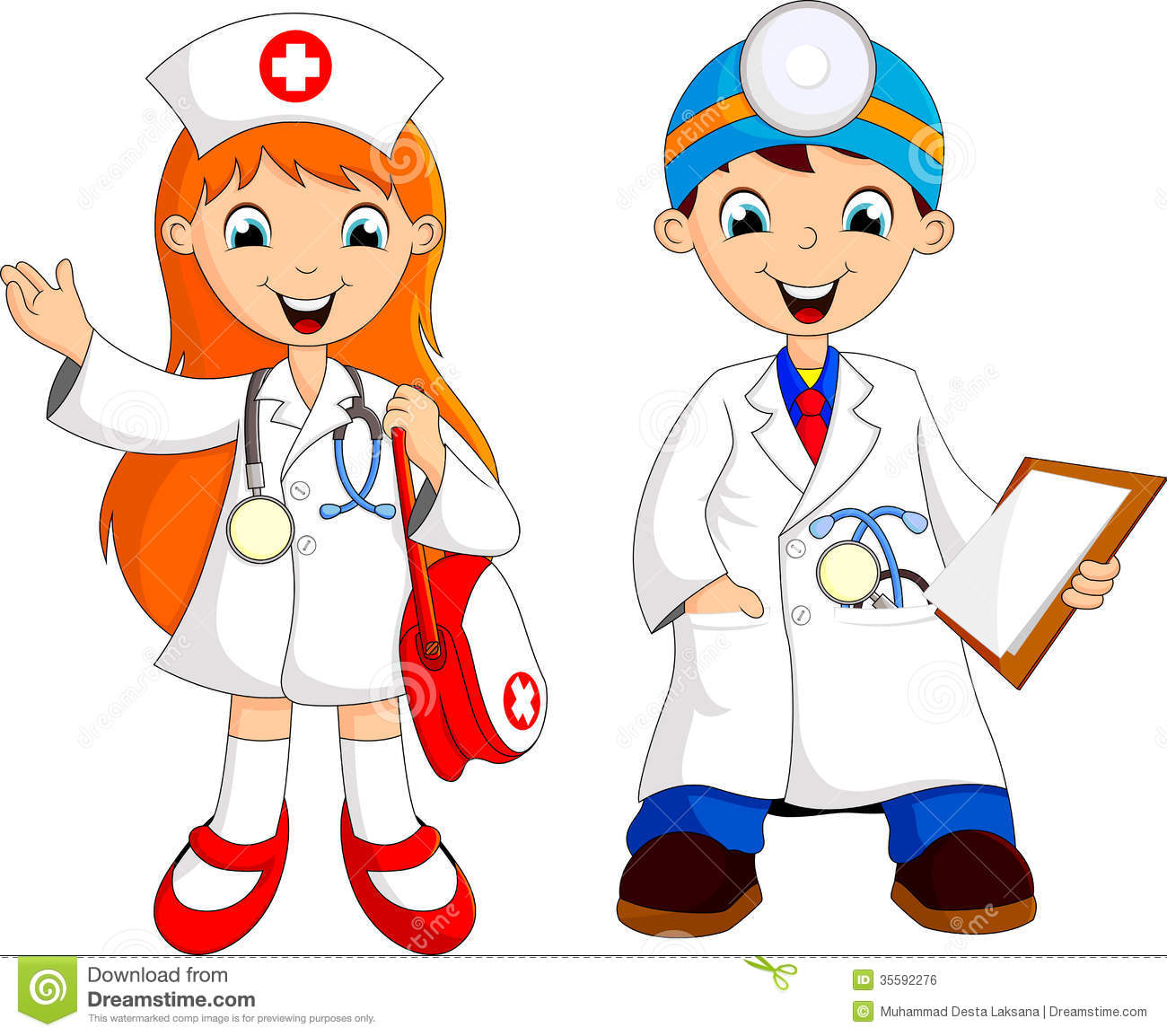 Two Cute Young Doctor Royalty Free Stock Image - Image: 35592276