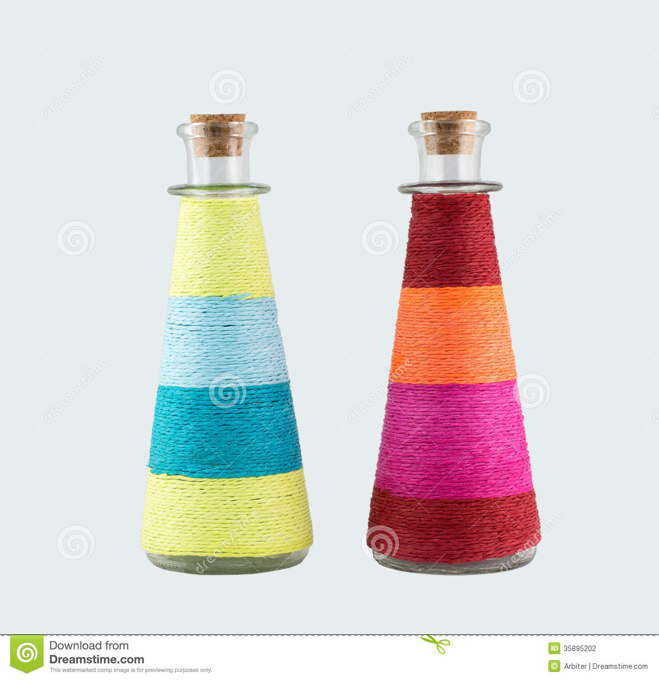 Two decorative bottles stock photography image 35895202 for Decorative vials