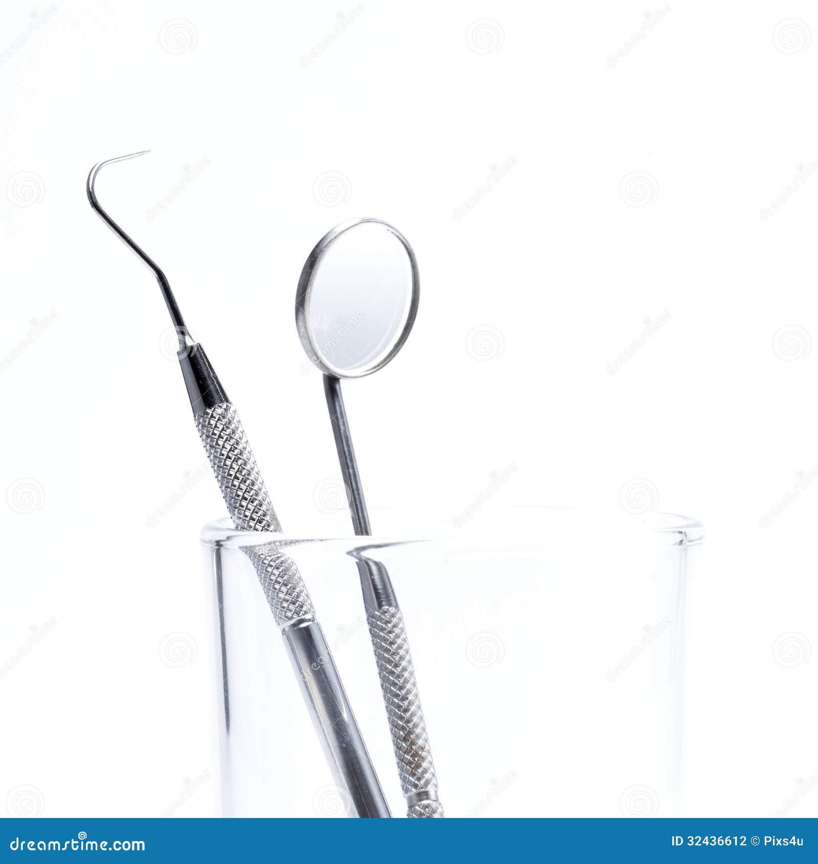 Dental mirror and probe Dentist Mirror Tool