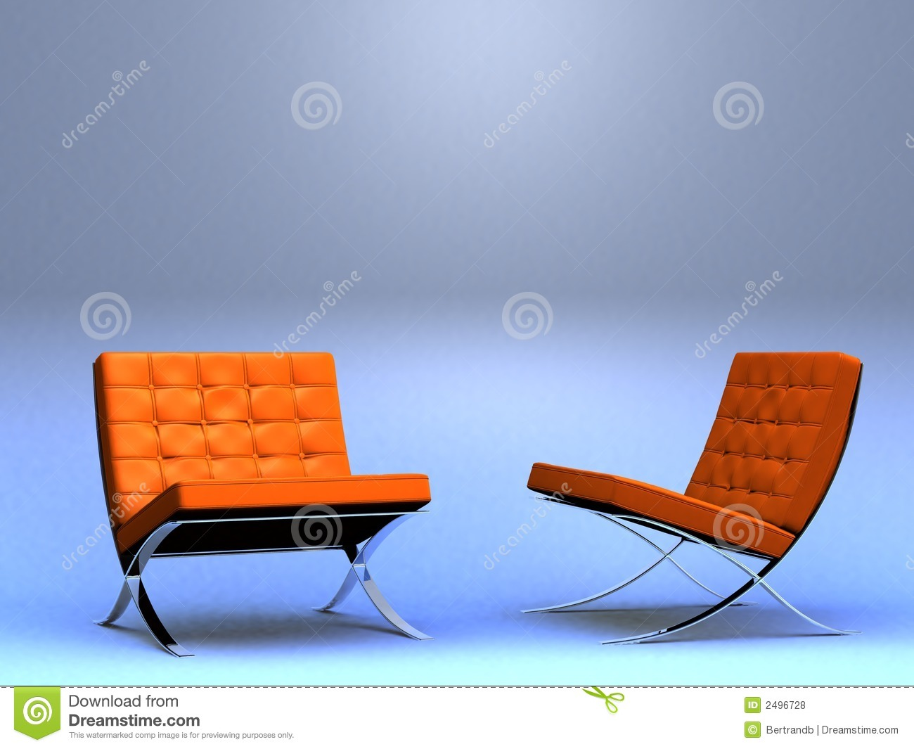 Two designer s chairs