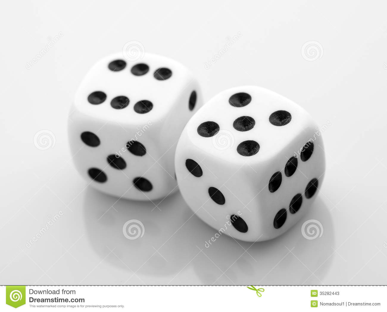 Two Dice Stock Photos - Image: 35282443