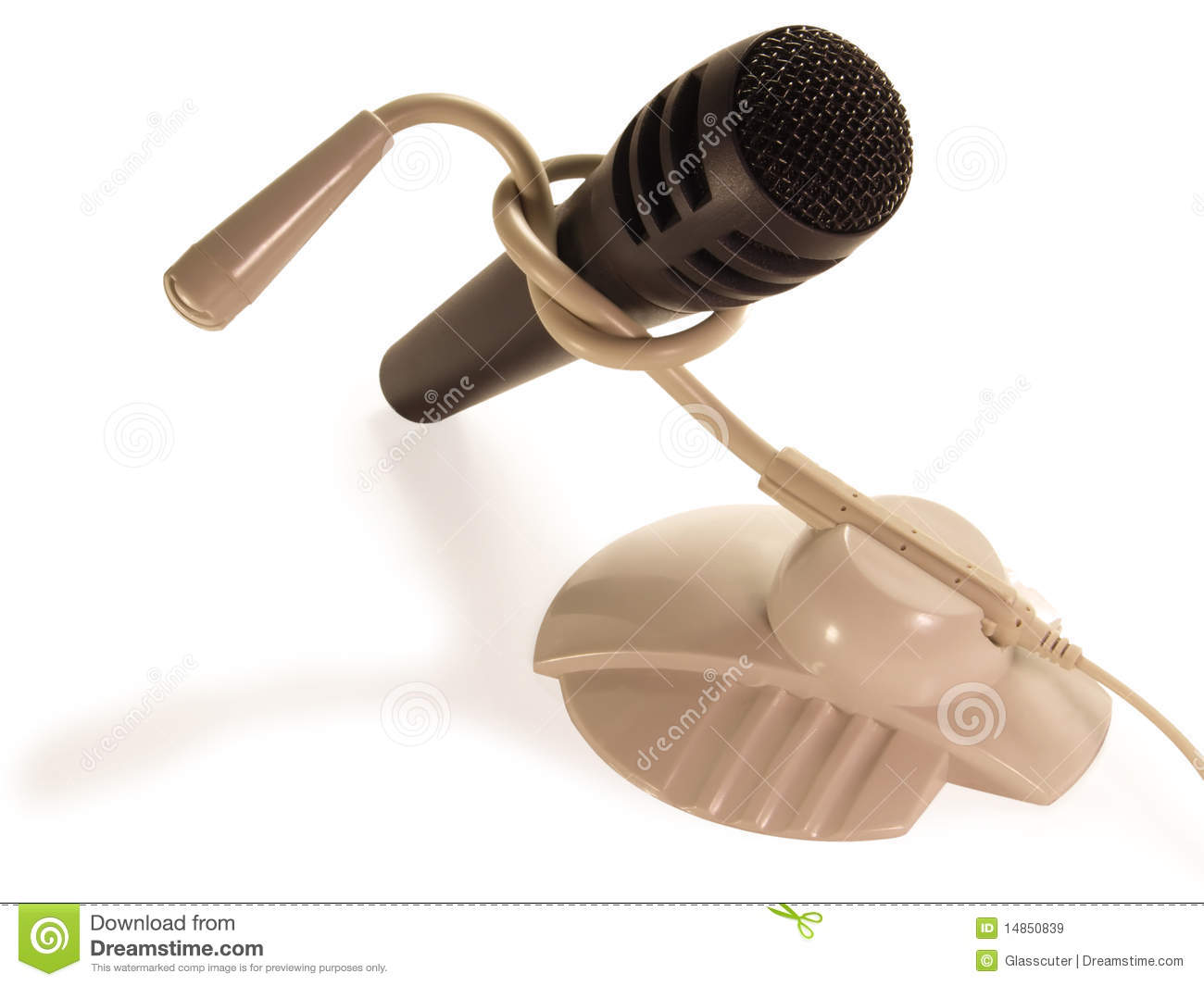 Two different microphone connected to the node.